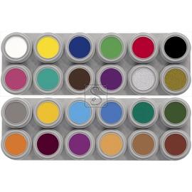 Tavolozza Water Make up - 12A+12B - 24 colori - Grimas