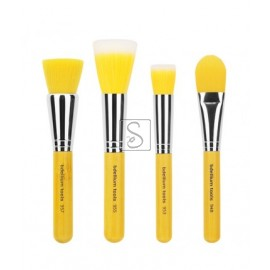Yellow Bambu Foundation 4pc. Brush Set