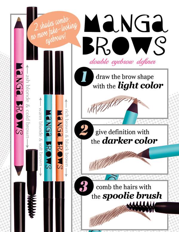 Applicazione Manga Brows Neve Cosmetics