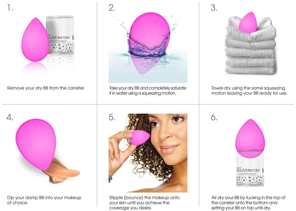 Istruzioni per l'utilizzo di Beauty Blender